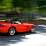 Fast red sports car
