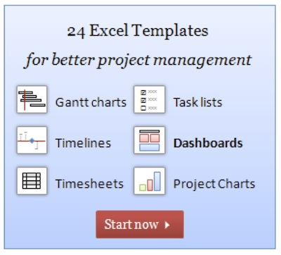 Chandoo-PjM 24 Excel templates