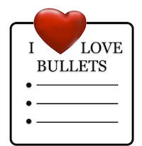 love-bullet-points