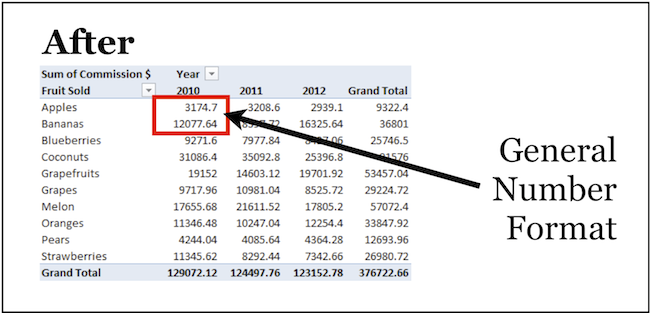[Image] Pivot Table value area reverts back to General number format