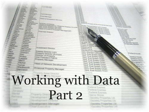 [Image] Working with Data Part 2
