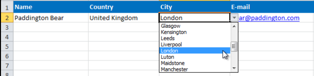 [Image] Screenshot of City drop-down selector
