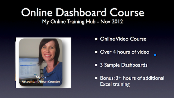 [Image] Online Dashboard Course - Mynda Treacy