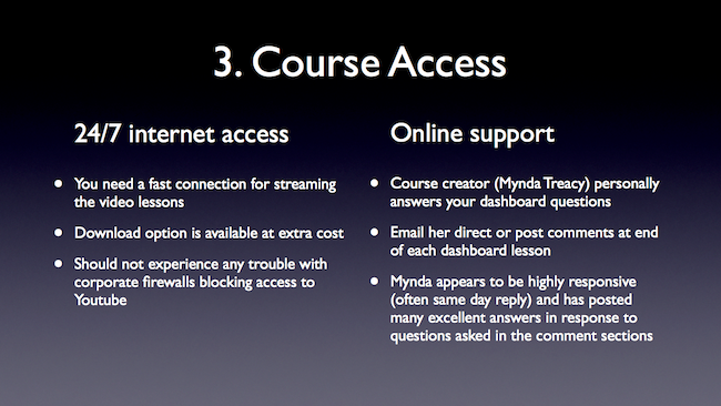 [Image] Slide on Dashboard Course Access