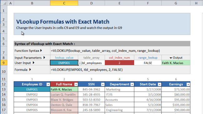 [Image] VLOOKUP with exact match