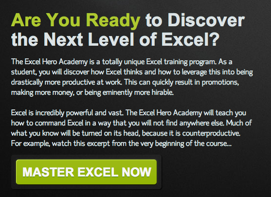 [Image] Join the Excel Hero Academy