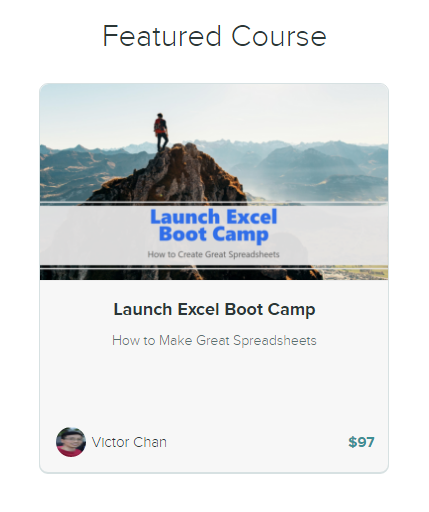 Launch Excel Boot Camp training course on how to make great spreadsheets