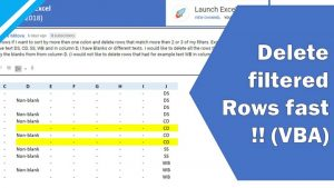 Excel Tutorial: How to use VBA to delete filtered rows (fast!!) ... but not delete hidden rows