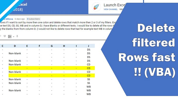 Excel tutorial how to use vba to delete filtered rows fast excel tutorial how to use vba to delete filtered rows fast ibookread Read Online