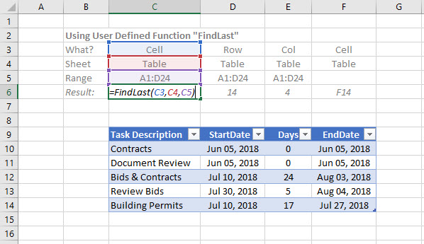 [IMAGE - Use FindLast UDF function on worksheet to find last cell, row or column]