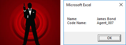 [IMAGE] Excel VBA secret code names