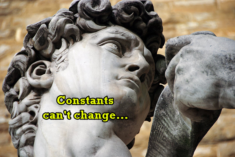 [IMAGE] Constants can't change - Statue of David