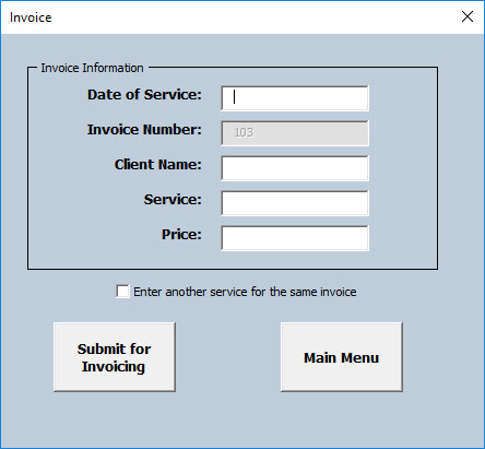 VBA Case Study #5 – Making a User-Friendly Invoice Generator
